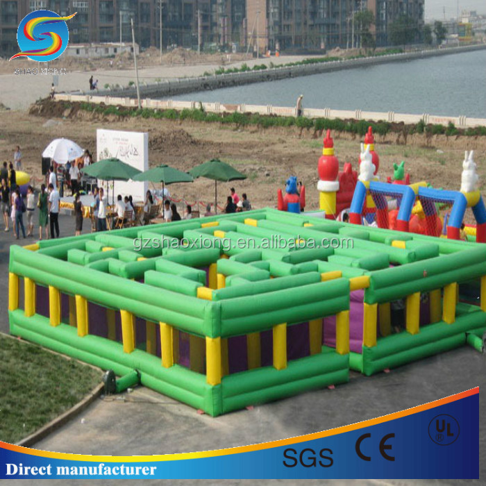 Cheap crazy inflatable maze,rental giant adult inflatable maze for party game