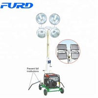 Trailer Mobile Electric Generator Light Tower with 4*1000W
