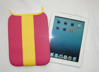 Pink & blue colorful for IPad Neoprene Tablet bag Tablet sleeve