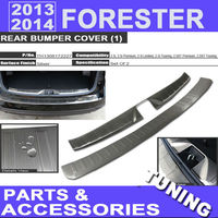 2013 2014 Forester Rear Bumper Cover Protector Rear Door Sill Plate For Subaru All Sub-models Forester Tuning Body Kit Exterior
