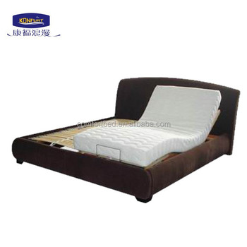 Factory price popular classic home wooden electric adjustable slat bed king size