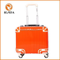 16 Inch Excellent Hardshell Aluminum Frame Trolley Luggage,Small Travel Business Trolley Case