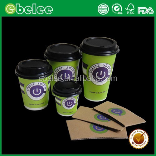 Disposable custom printed paper coffee cups paper cup designs