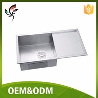 Handmade kitchen Deep Single Sink With Board Stainless Steel SUS 304 Custom Acceptable #8444