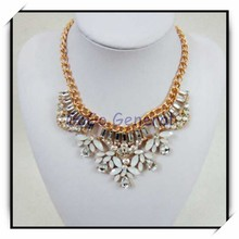 Mint Clear Stones Statement Necklace Wholesale Costume Jewellery