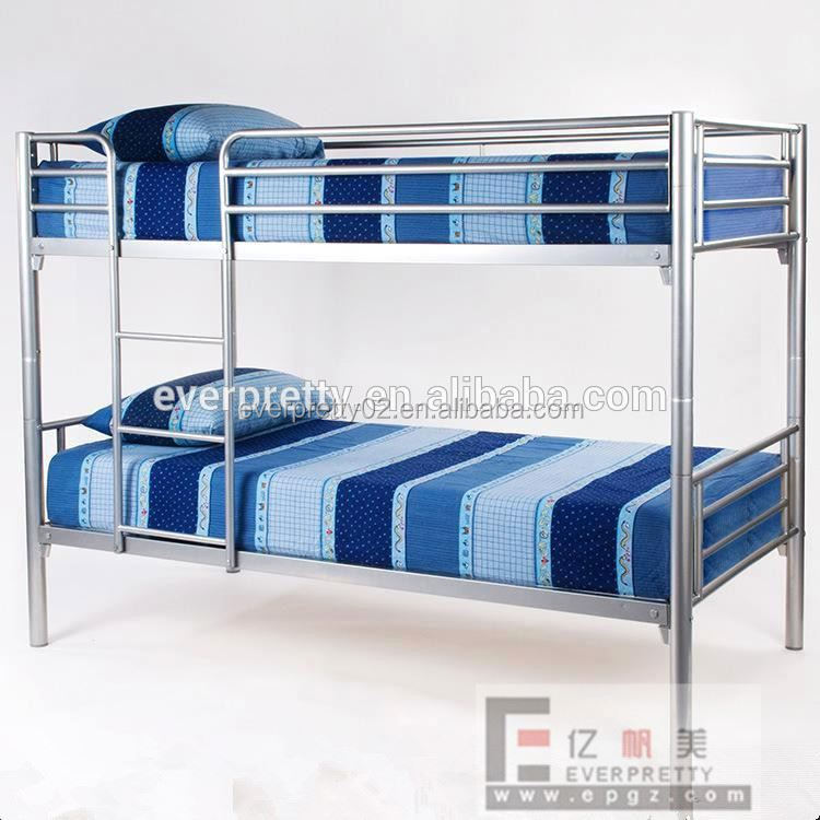 Hot Selling School Furniture Designer Stainless Steel Latest Double Bed Designs in Steel