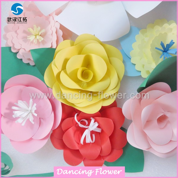 Combination Different Flower Colorful 100 Handcraft Paper Flowers