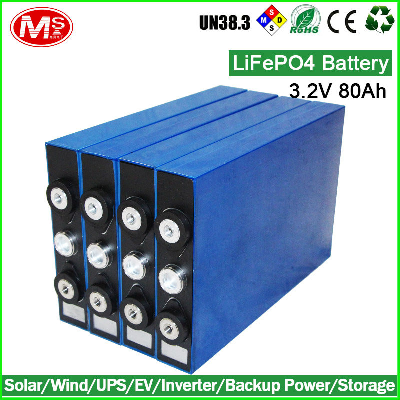 Rechargeable lithium battery 3.2V 80AH LiFePO4 battery for Electric forklift