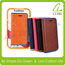 factory OEM pu leather wallet case with soft TPU for 5 inch mobile phone case for samsung galaxy S6 nexus case