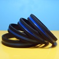 USA blue line silicone wristbands, customized silicone bracelets for promotion