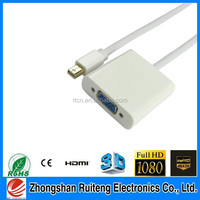 zhongshan ruiteng Mini Displayport Male TO VGA Female (both ABS)
