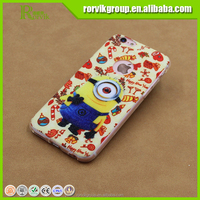 2015 cute minions cartoon character mobile phone case cover for iPhone 6 ,custom printed phone case