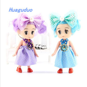 New Creative Hot Sale In Korean Small Fashion Doll Lovely 10cm Royalty Wedding Doll For Baby Gift