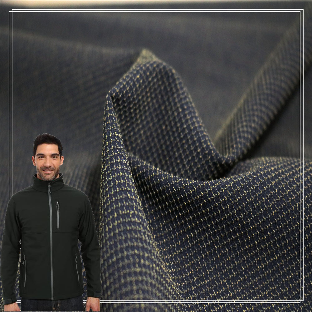 Good price per meter 94polyester 6spandex waterproof ski jacket jacquard fabric