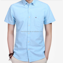 Hot Selling Latest Short-sleeve With Pocket Casual Mens Shirts