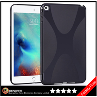 Keno X Shape Slim Thin TPU Gel Rubber Soft Skin Protective Case Cover for Apple iPad Mini 4 7.9 Inch