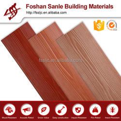 Fiber cement wood grain siding building materials