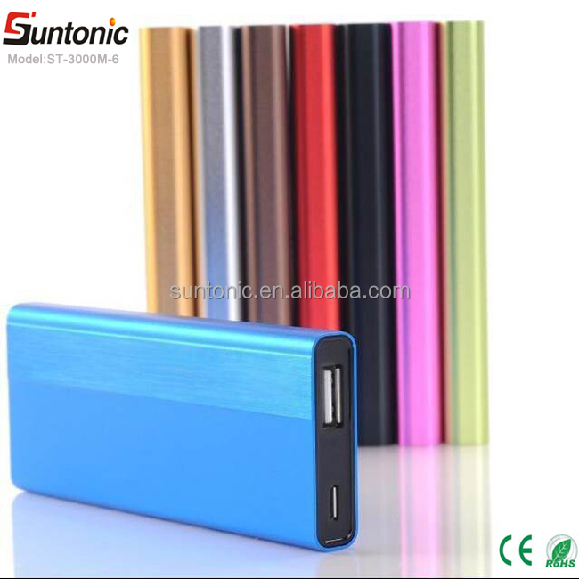 Free sample 3000mah power bank,portable power bank,slim power bank