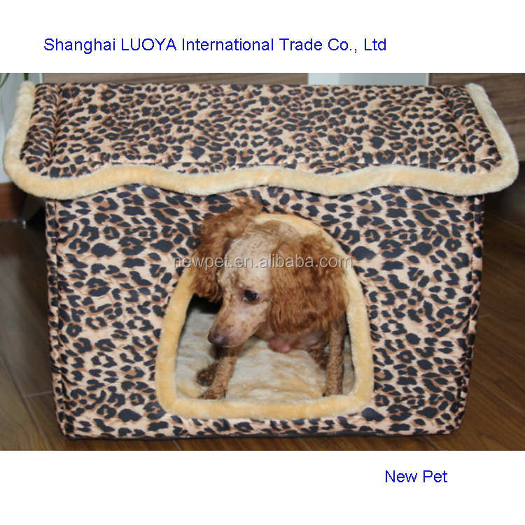 China manufactory fashion design leopard vip pet room approved flight dog house