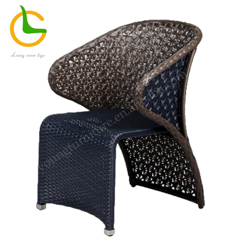 Wholesale black RTA outside rattan garden chairs
