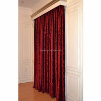 dark red Italy velvet curtain fabrics with 3d embossed