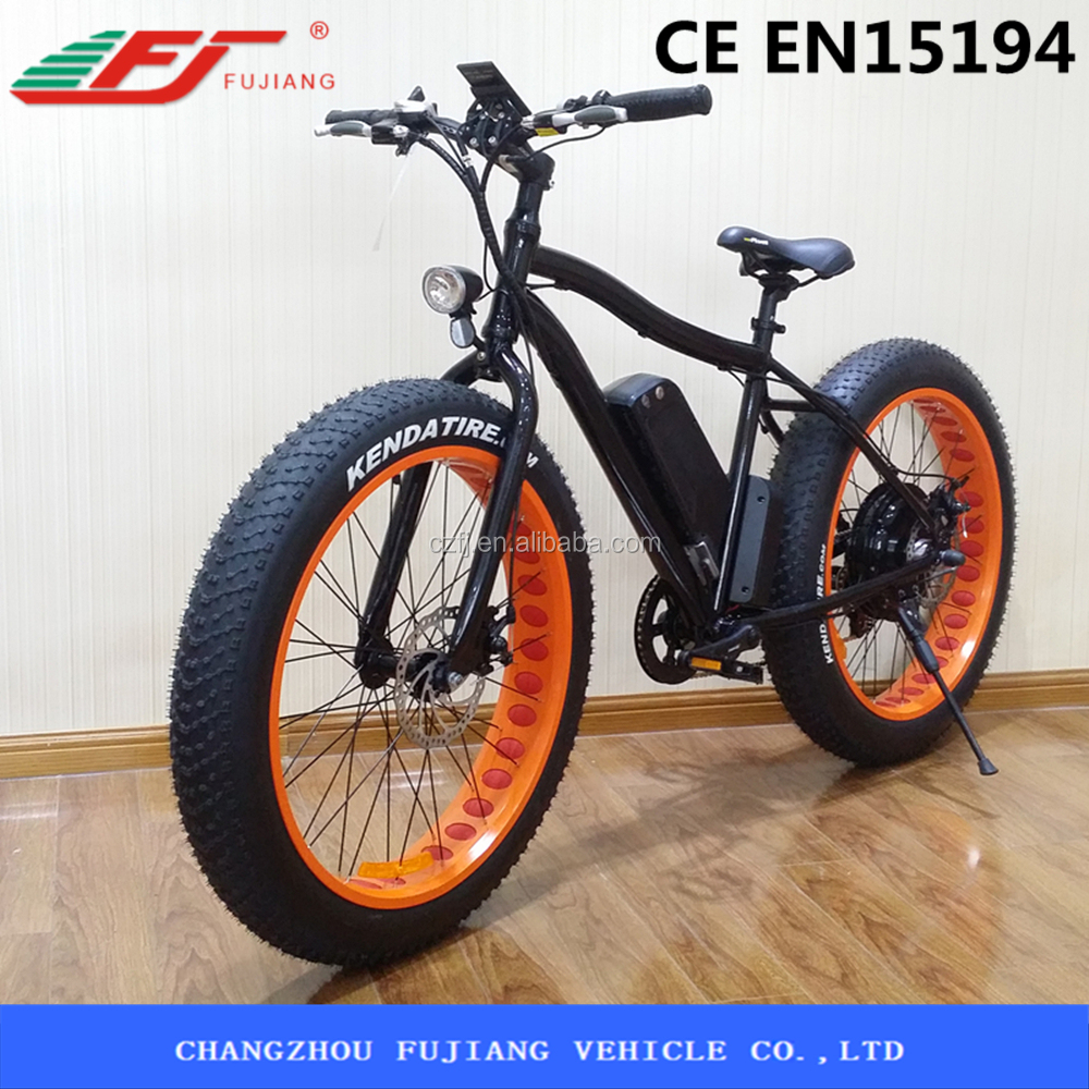 HOT SELL ELECTRIC FAT TIRES <strong>BIKE</strong> WITH COLOR RIMS(FJTDE07)