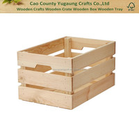 Wooden new design crates for bottles and fruits