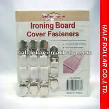 4 PC Ironing Board Cover Fasteners
