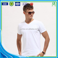 New Feeling Custom Plain 95 Cotton 5 Elastane Fabric T shirt