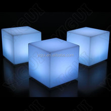 discount led bar stool /factory direct sale cheap led furniture stool cube