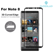 For samsung galaxy Note 8 tempered glass screen protector, compatible with hot-selling cell phone case