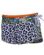 Leopard sexy young lady phantom flammo board shorts