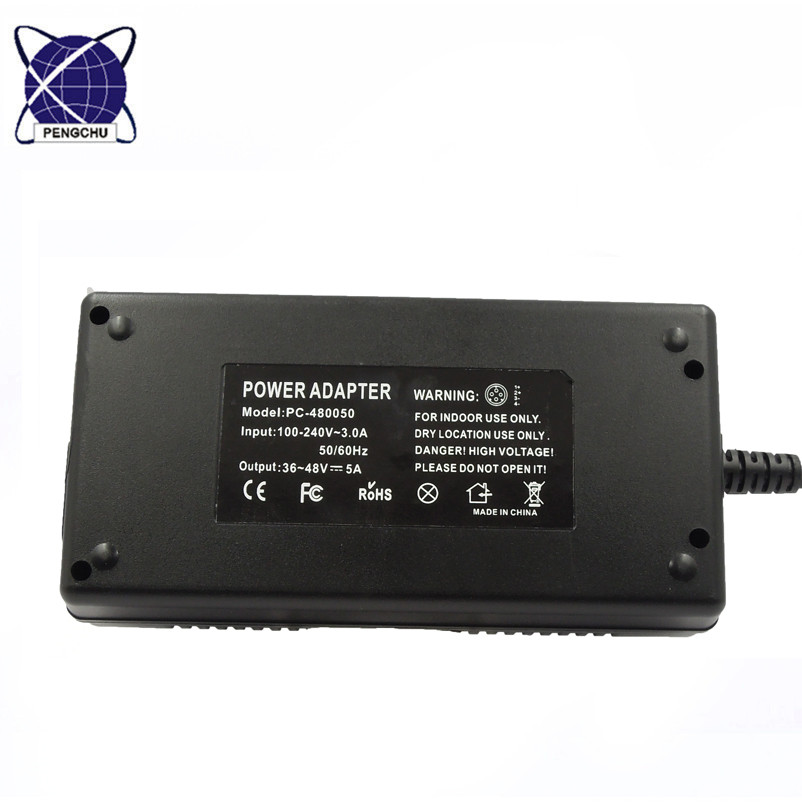 adjustable switching power adapter 36-49v 5a