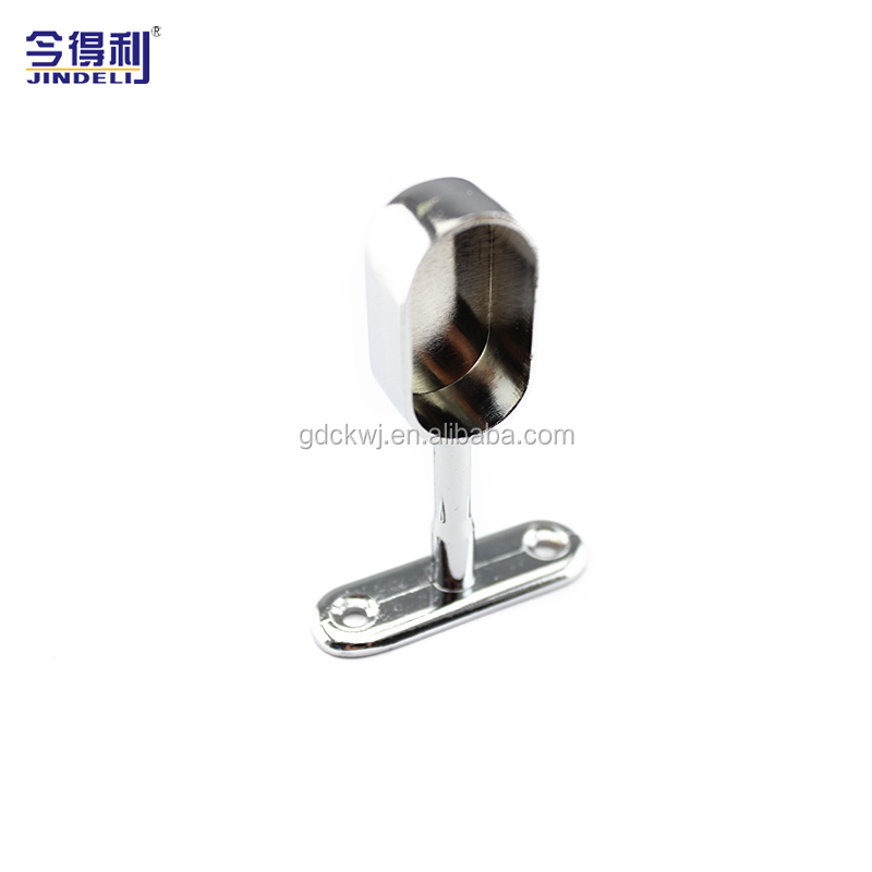 Aluminium wardrobe rail profile bracket metal wardrobe hanging rail support  for furniture