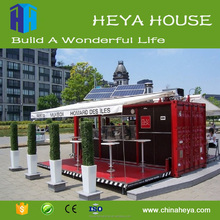 Collapsible outdoor container cafe kiosk with CE