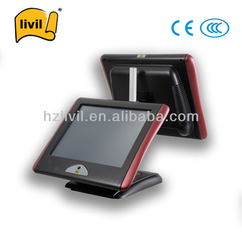 LIVIL Touch Screen POS Terminal/ Cash Register Machine Dual Core 32G SSD 500G HDD