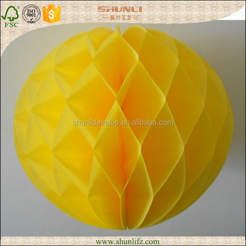 fashionable glittered Tissue paper balls decoration for party