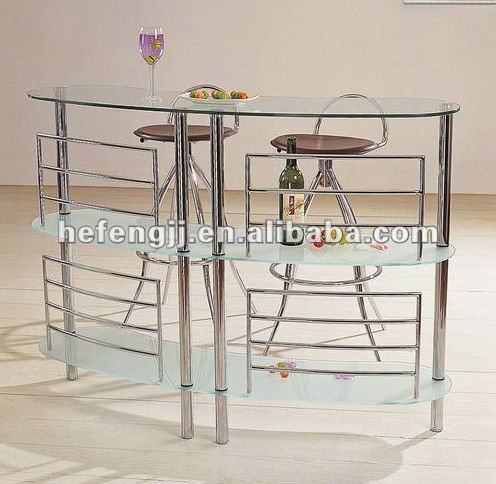 Frosted Glass wine table