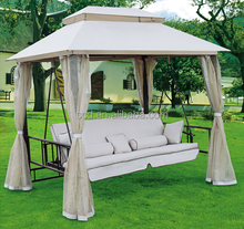Outdoor Patio Used Hammock Canvas Canopy Swing Chair Swing Bed