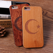 mobile phone accessories,real solid wooden phone case for Iphone7 plastic raw material