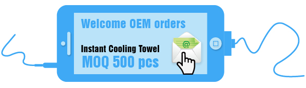 Custom Sport Magic Microfiber Huunana Instant cooling ice towel