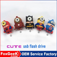 Spider Bat man superman 2.0 512gb usb flash drive bulk pendrive High quality 3D Printing bulk 512mb usb flash drives