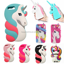 Fashion 3D Rainbow Unicorn Case Cover for IPhone 5 6 6S 7 7plus 8 8plus Soft Silicon Cell Phone Case