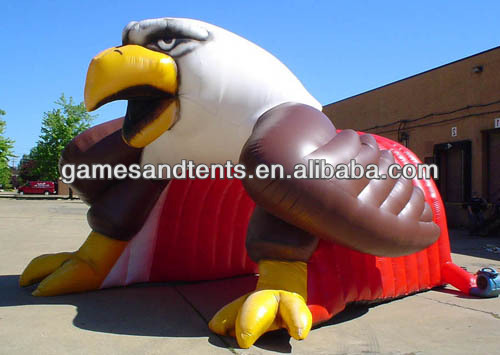 PVC hot Mascot Tunnels, Inflatable Tunnel Eagle F9011