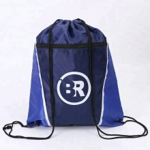 Custom gym sports drawstring bag rope zipper bag