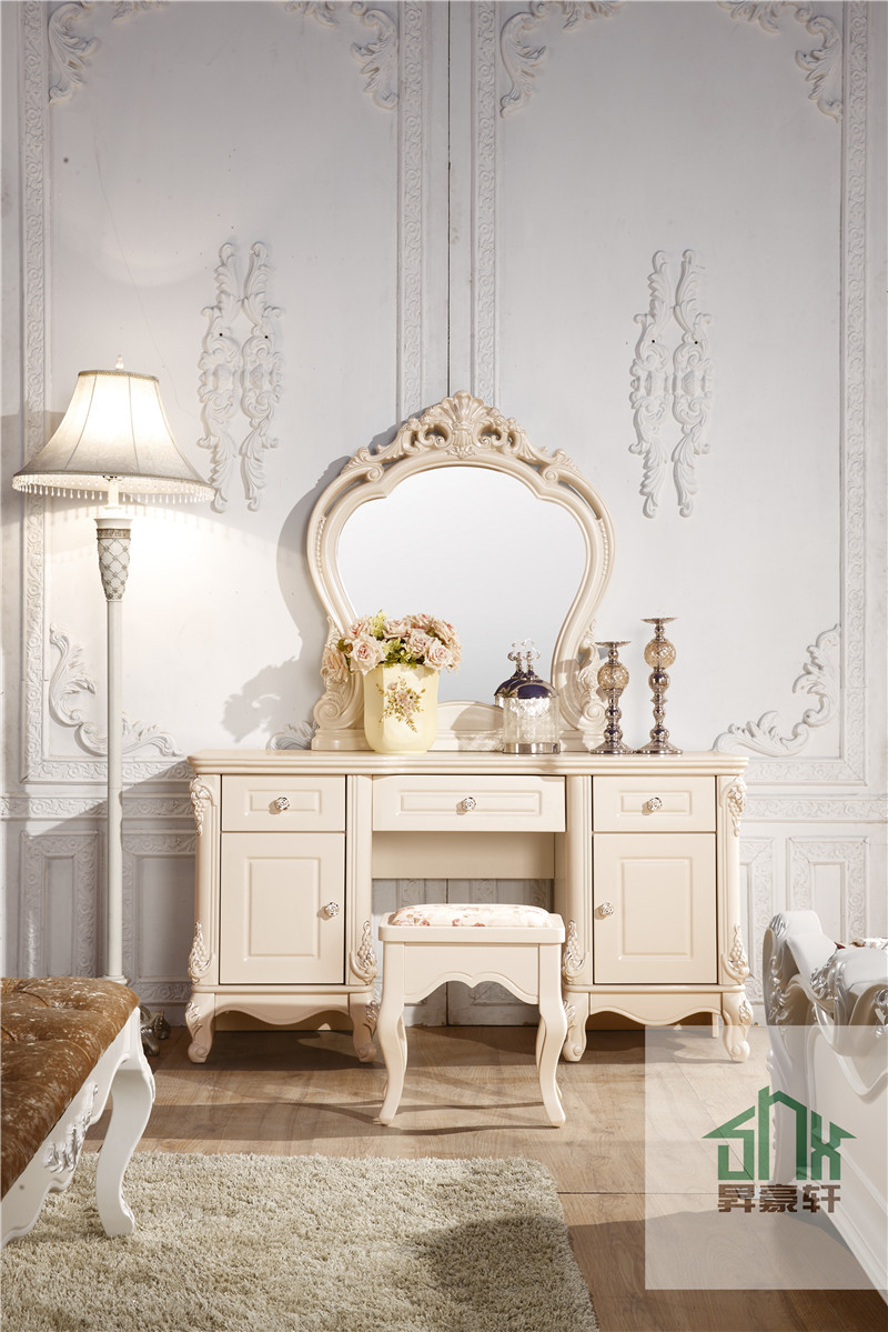 French style ha 913 bedroom furniture wall mounted dressing table white dressing table designs Best time to buy bedroom furniture on sale