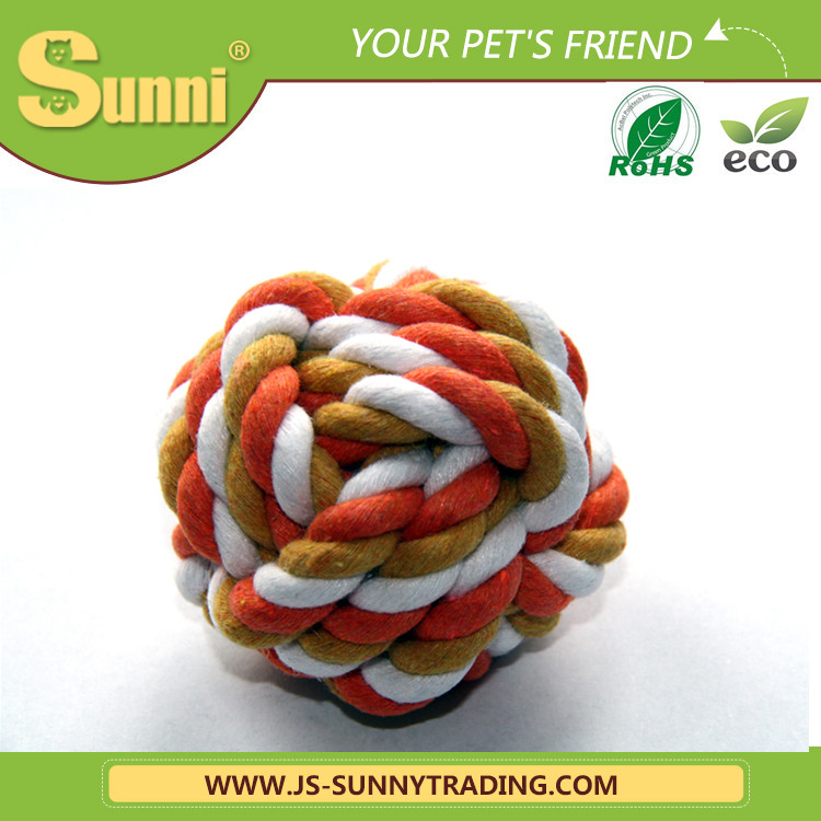 Durable chew pet toys for dog cotton rope ball