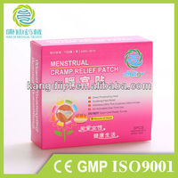 Abnormal menstrual cramp relief patch with CE,GMP,FDA, ISO and BV bama herbs