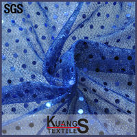 wholesale navy blue sequin fabric