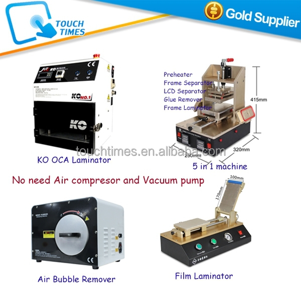 Full Set LCD Repair Machine with CE for Mobile Phone LCD Glass Refurbishing from Start to End, No need compressor and pump